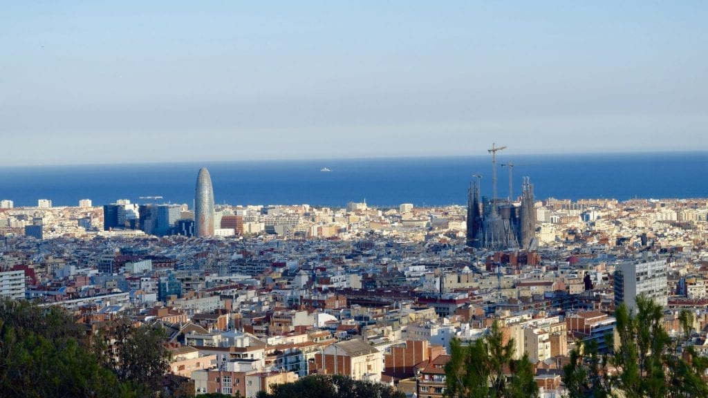 View of Barcelona from top