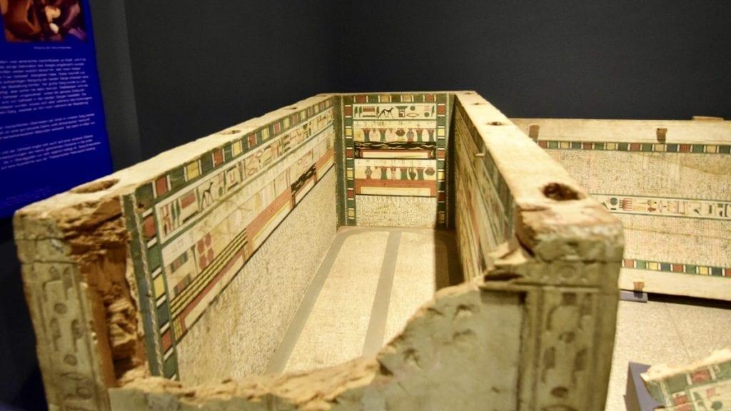 An ancient coffin inside Luxor Museum.