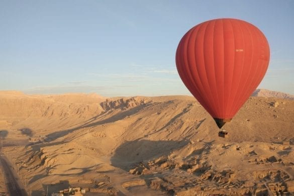 Hot Air Balloon in the Valley of the Kings