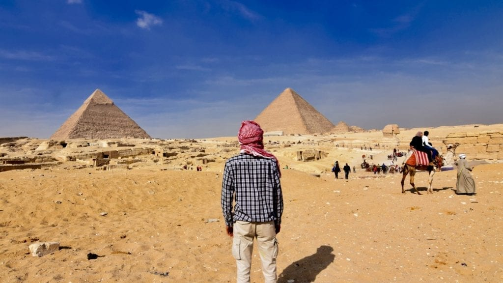 Your 7 days Egypt itinerary will begin at the Pyramid of Giza.