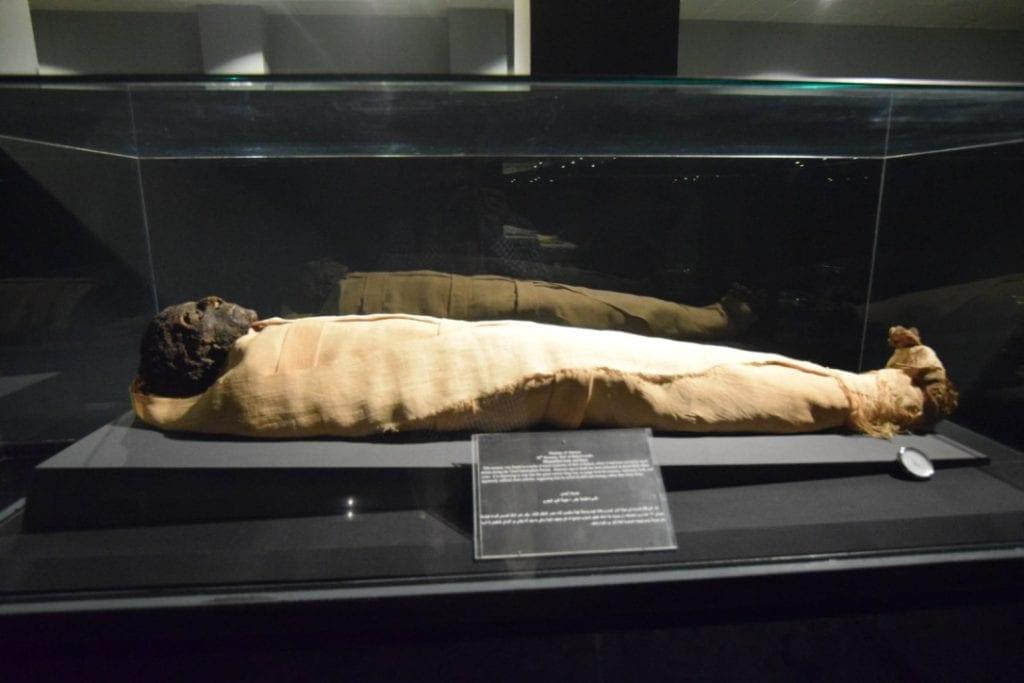 A mummy in Luxor museum.