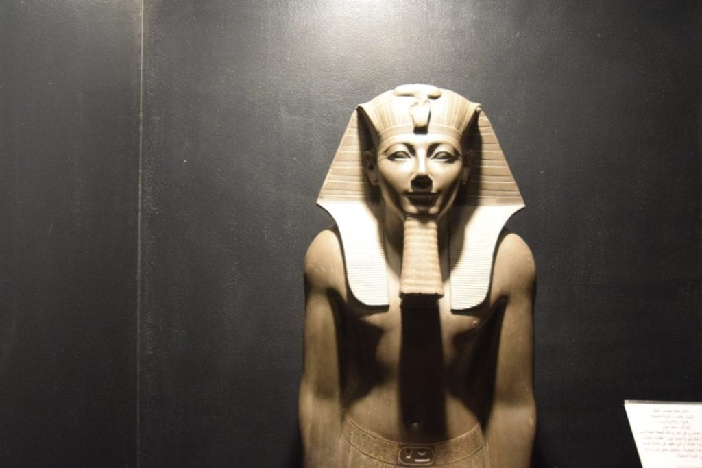 An artefact in Luxor museum in Egypt.