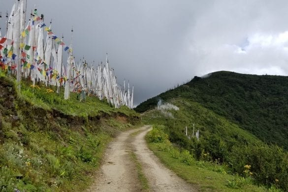 Prayer flag in Bhutan