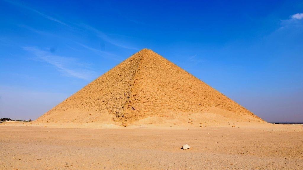 Red pyramid in Egypt.