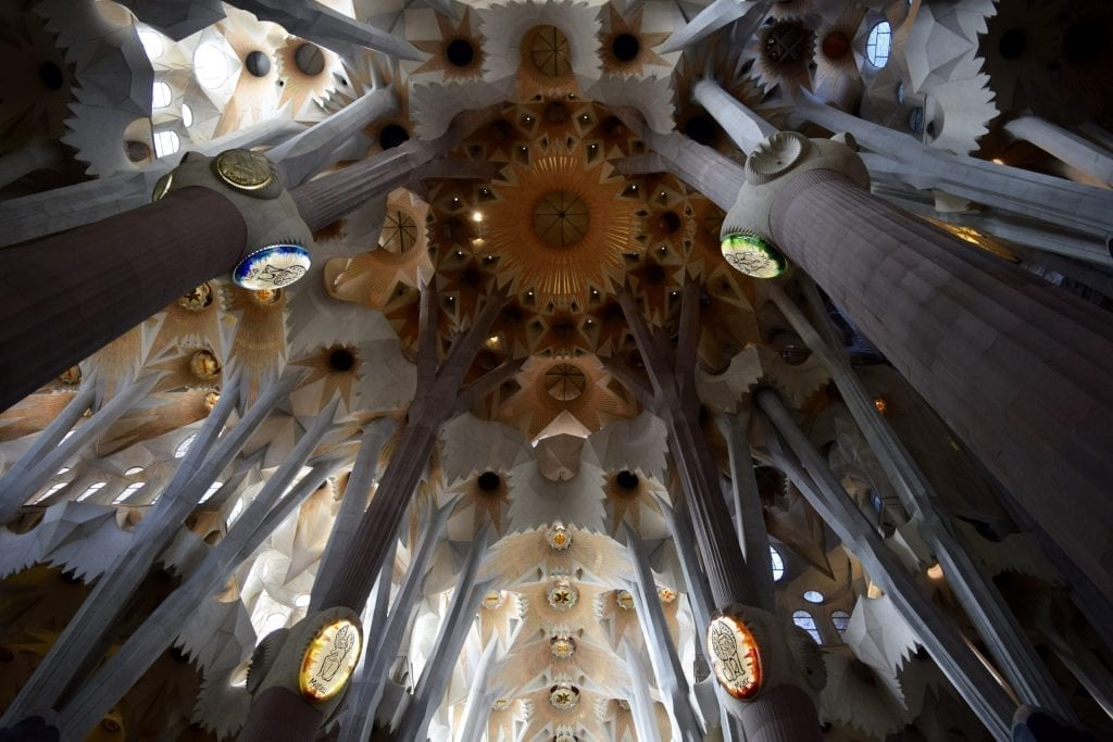 Put Sagrada Familia in your Barcelona itinerary, you will see such intricate interior design.