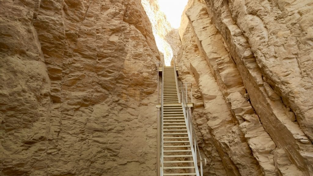A staircase to go to a chamber of valley of kings.