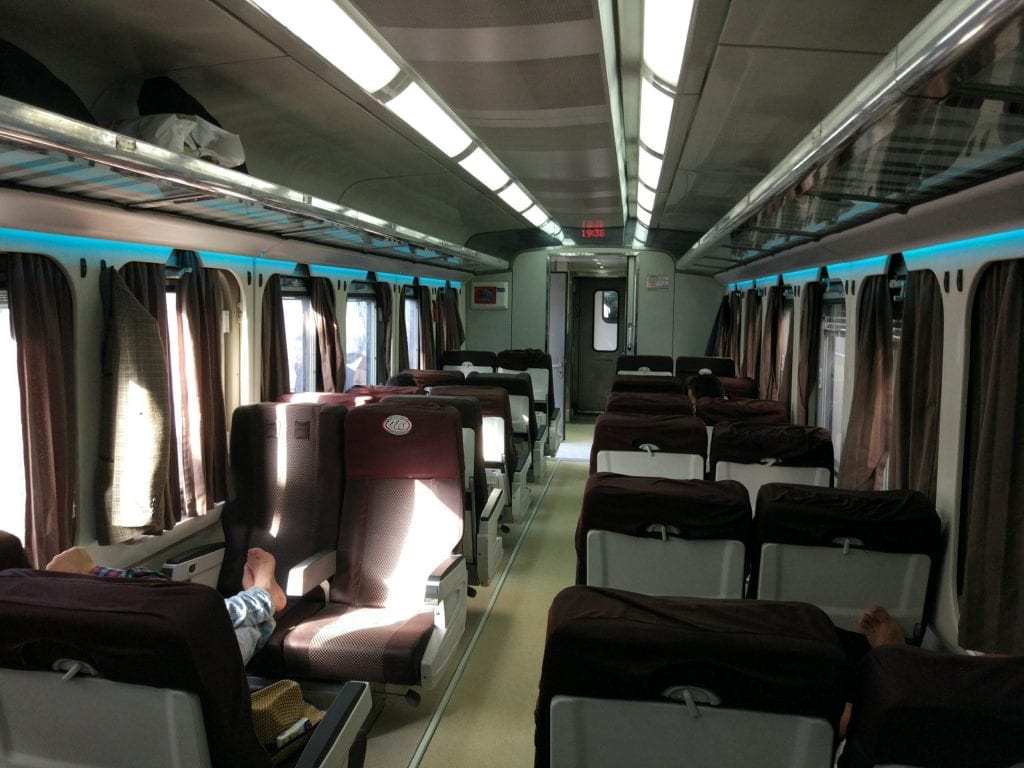 My tour to Luxor from Aswan started by a train.