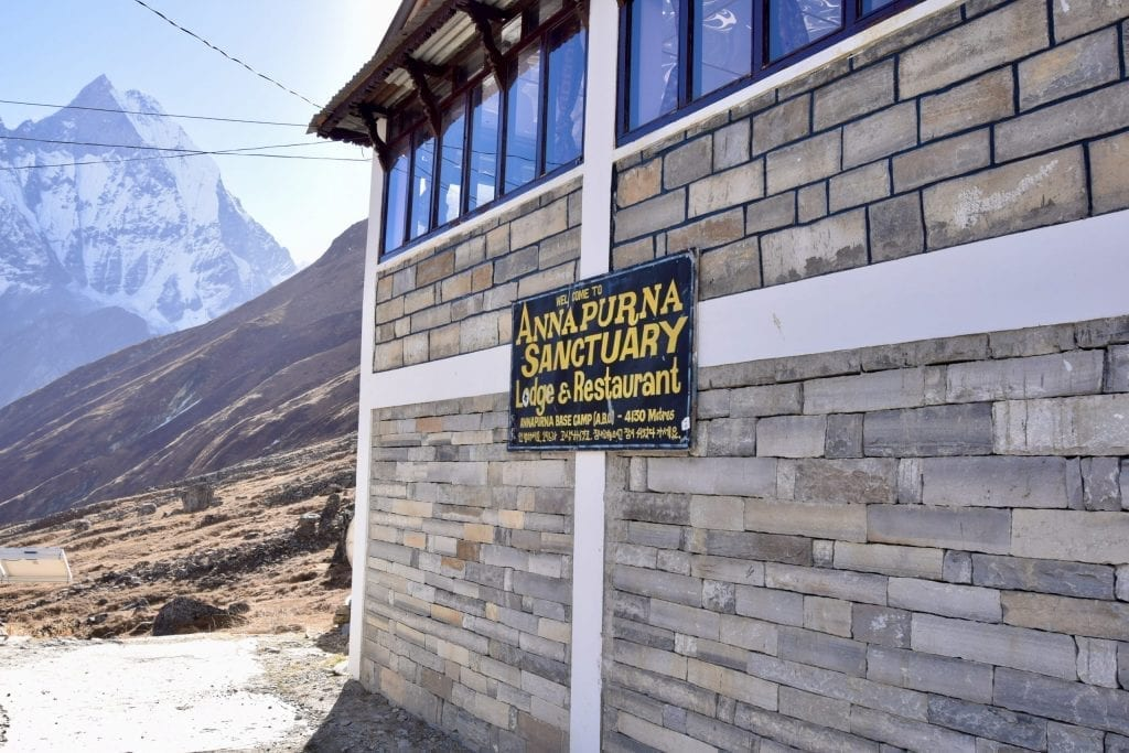 Do you want to stay in an altitude of 4130 meters? A lodge in Annapurna Base Camp