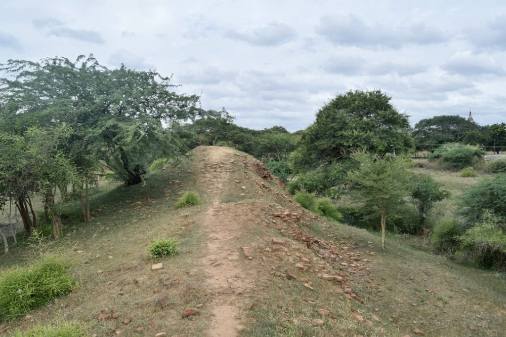 Steep roads to explore in Bagan by bike.