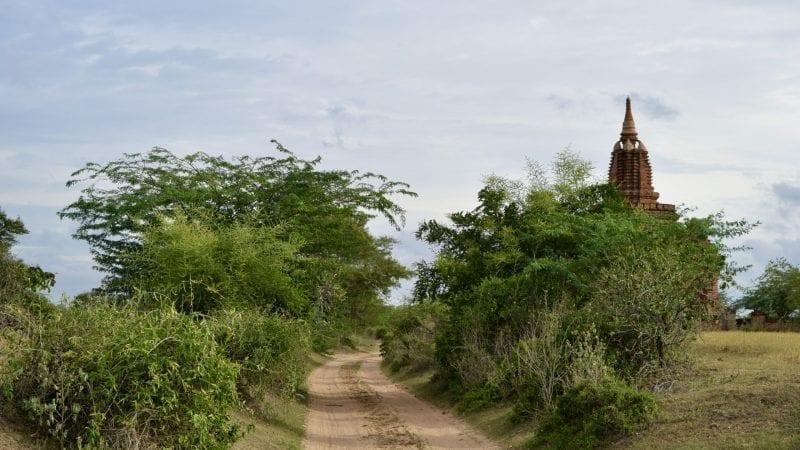 Dirt road in Bagan