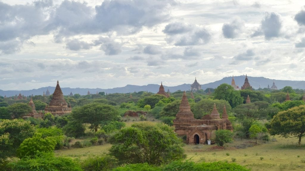 Dotted Temples in Bagan, Myanmar. Myanmar is one of the less visited destinations in Asia.