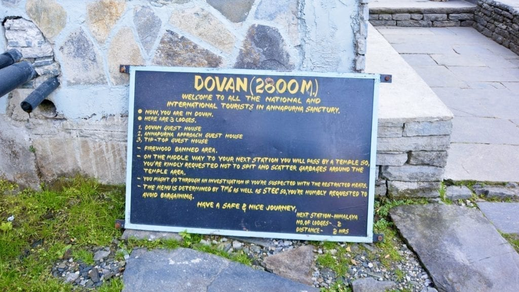 We are at Dovan. Himalayan Hotel is the next stop.