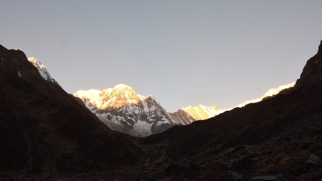 Amazing Sunset during Annapurna Sanctuary Trek.
