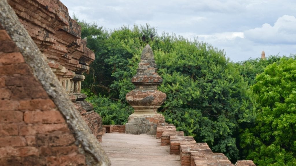 A narrow passage in a temple in Bagan.