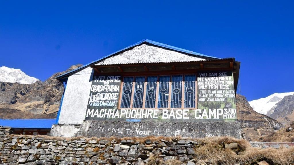 Macchapuchare Base Camp is the last before arriving Annapurna Sanctuary Trek.