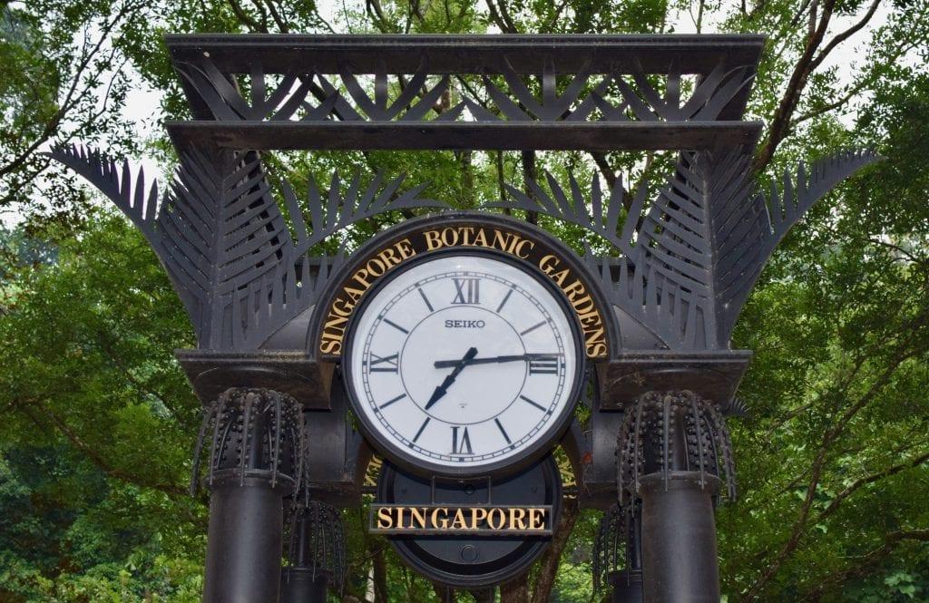 Grand Clock in Singapore Botanic Gardens