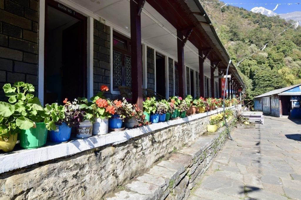 A lodge in Sinuwa on way back from Annapurna Base Camp.
