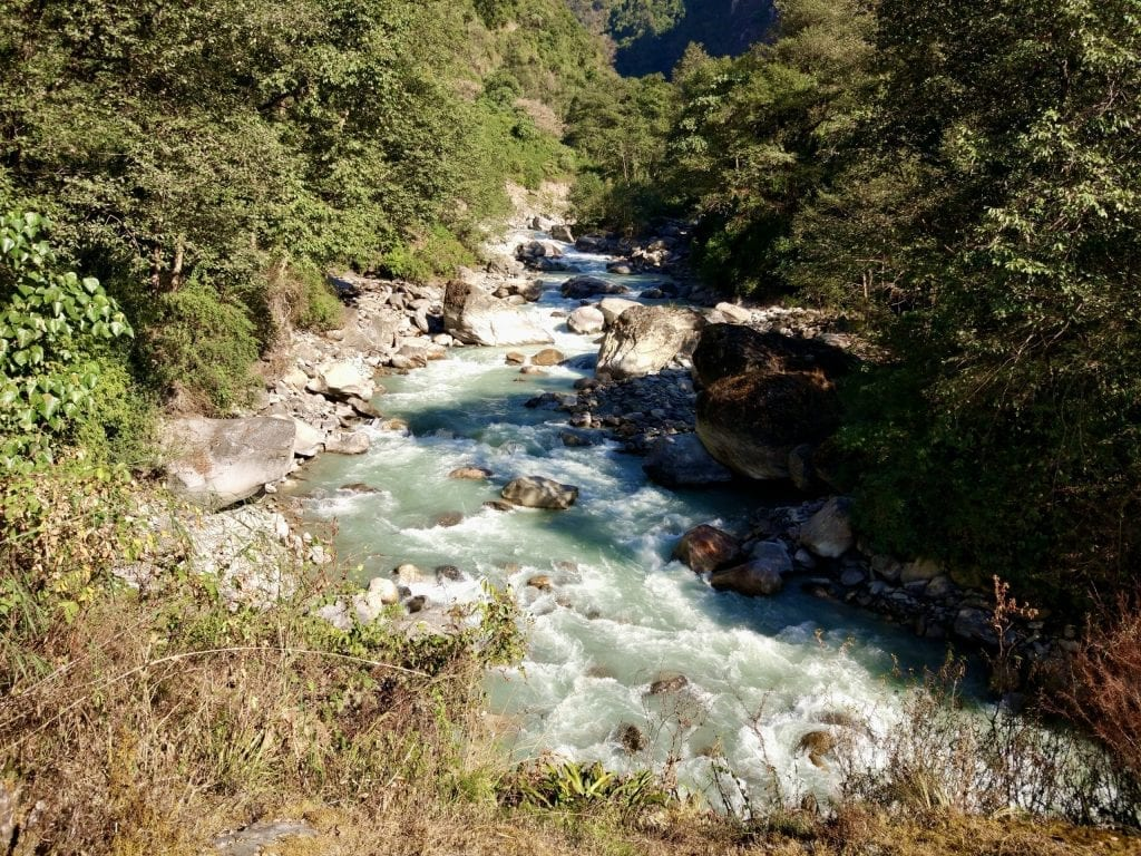 Flowing river during Annapurna Base Camp.