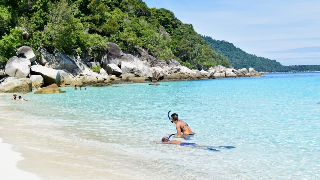 Snorkelling is a favourite thing to do in Perhentian Islands.