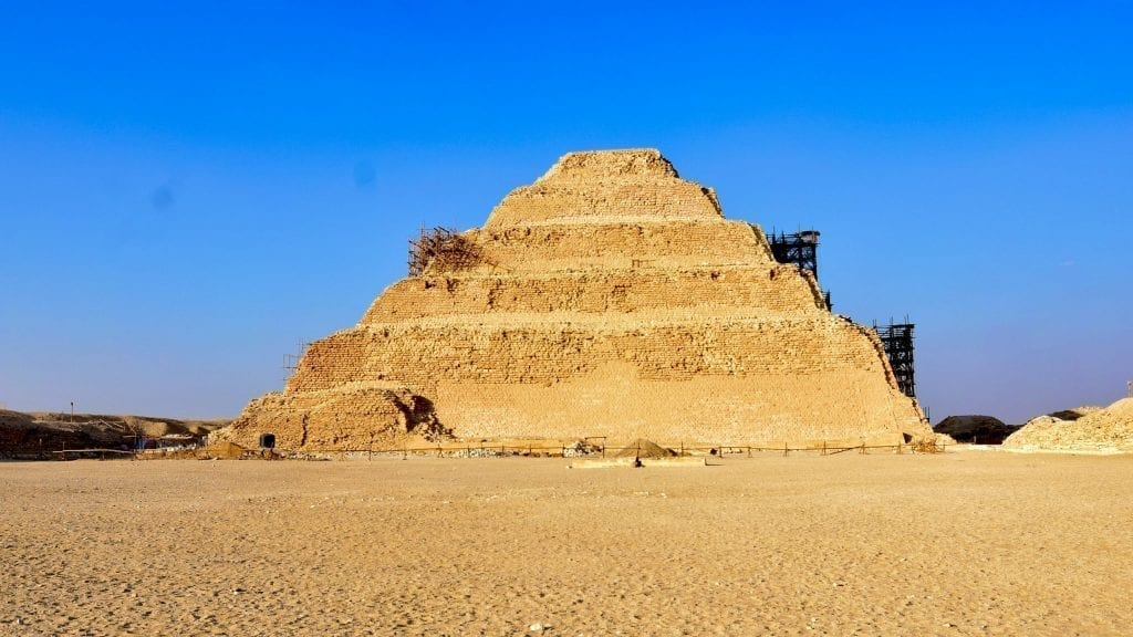 Pyramid of Djoser or Step Pyramid in Egypt.