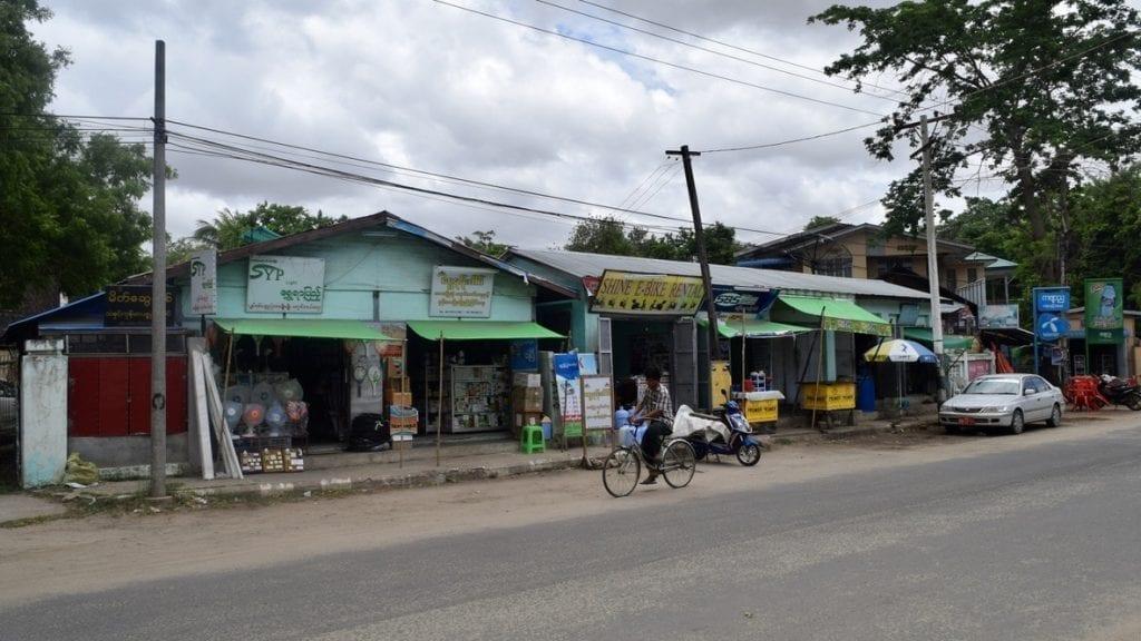Shops in bagan renting e bike.