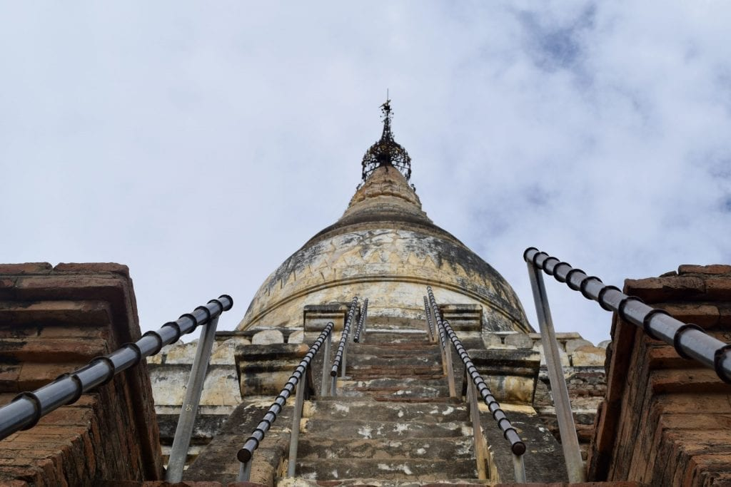 Some of the pagodas in Bagan has steep stair.