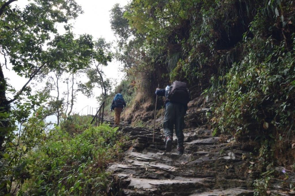 The journey for the Annapurna Base Camp trek begins.