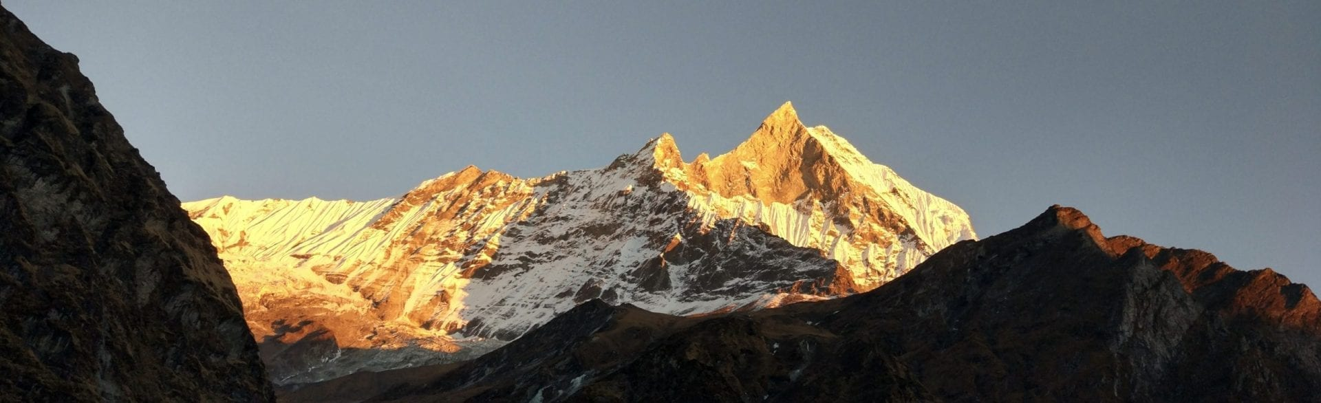 Sunset in Annapurna Mountain, Nepal