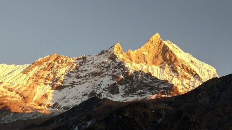 Sunset in Annapurna Mountain, Nepal