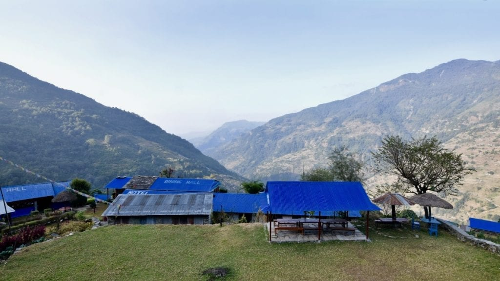 It's a village named Tolka in Nepal during Annapurna Base Camp Trek.