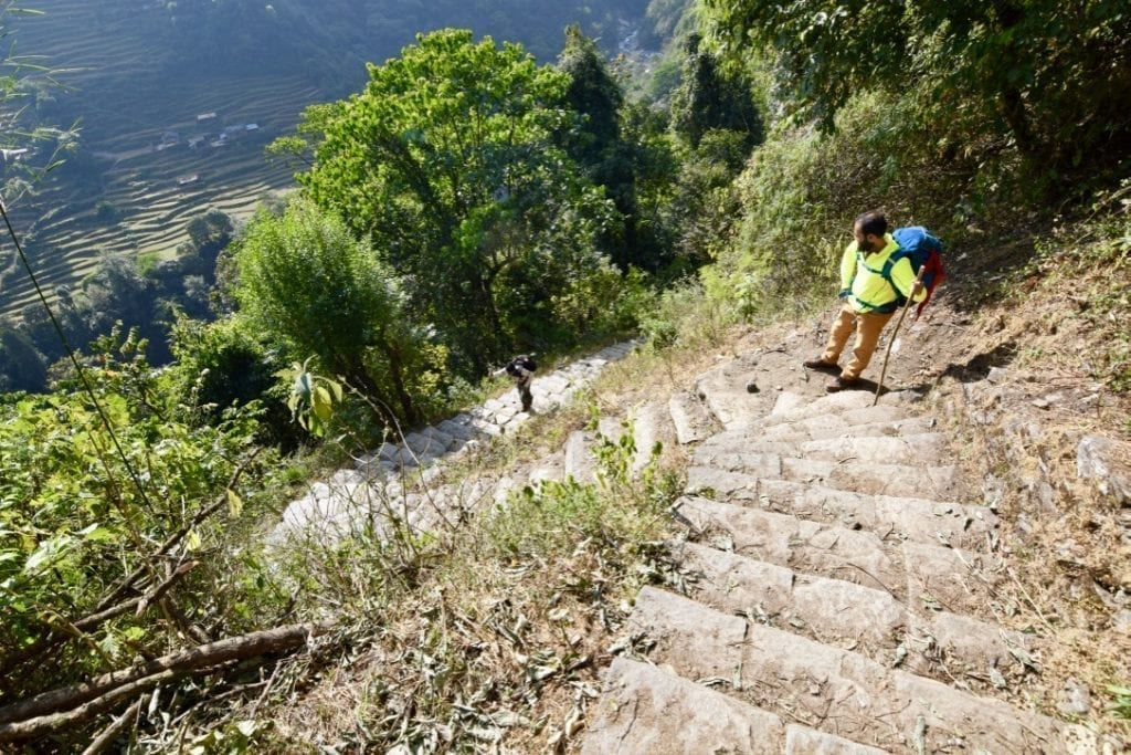 You will have to climb endless stairs during your Annapurna base camp trek.