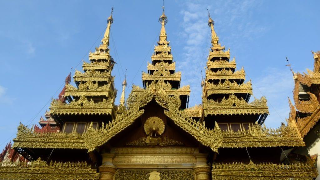 A temple in the Shwedagon Pagoda