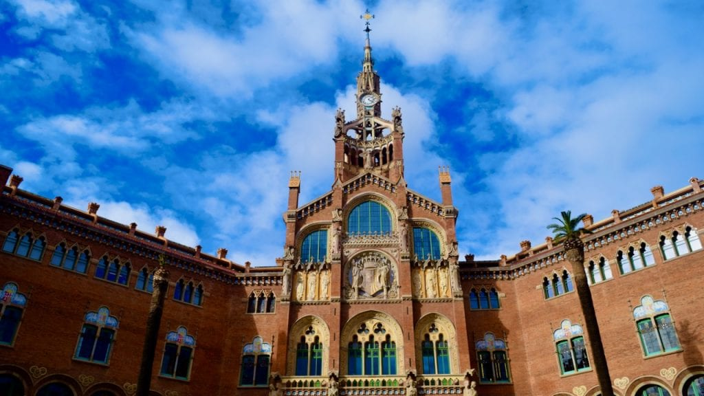 Hospital de Sant Pau in Barcelona in a UNESCO World Heritage Site.