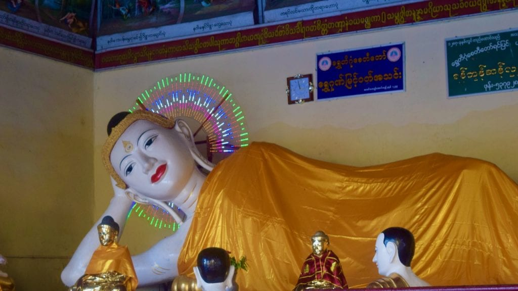 Resting Buddha in Shwedagon Pagoda