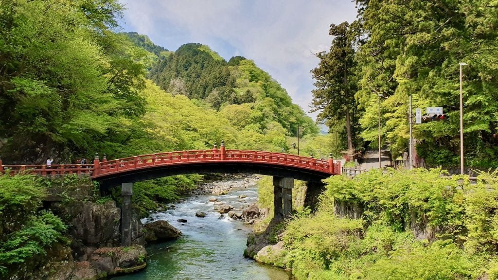 Shinkyo Bridge in Nikko, Japan. Japan in one of the most popular destinations in Asia.