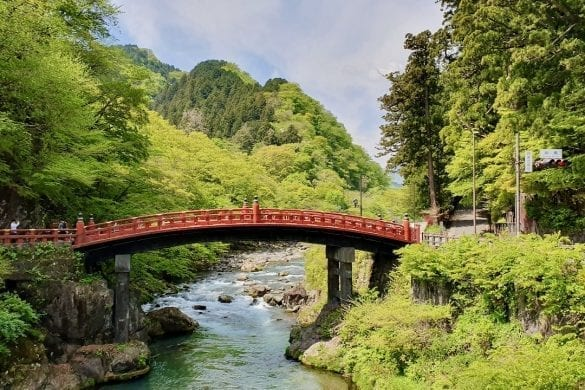 Shinkyo Bridge in Nikko, Japan