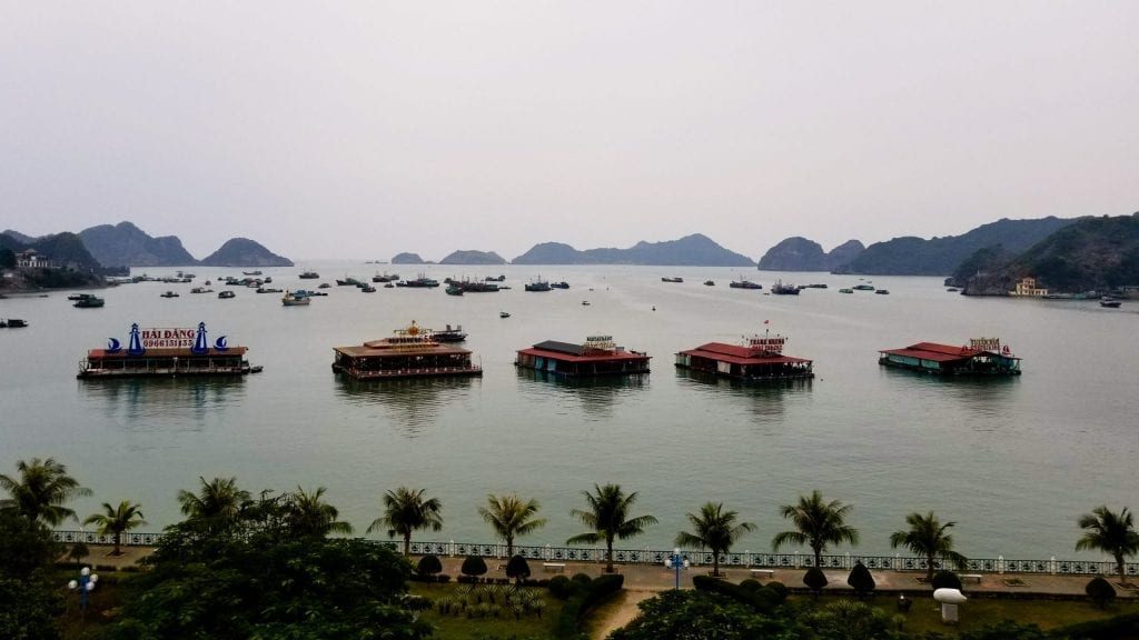 Amazing view of Cat Ba Island from hotel window