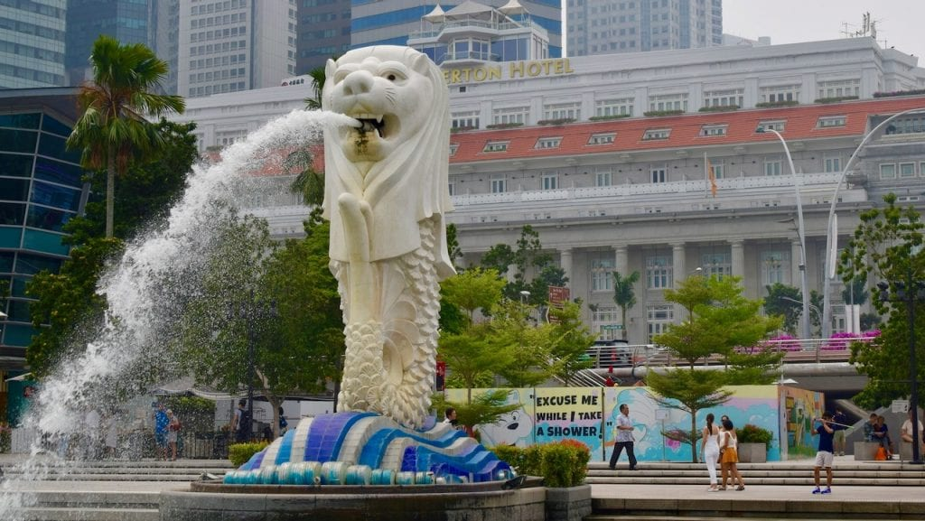You will meet the Merlion many times during your 4 day Singapore trip.