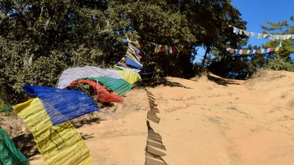 Prayer flags on our way to tiger's nest trek