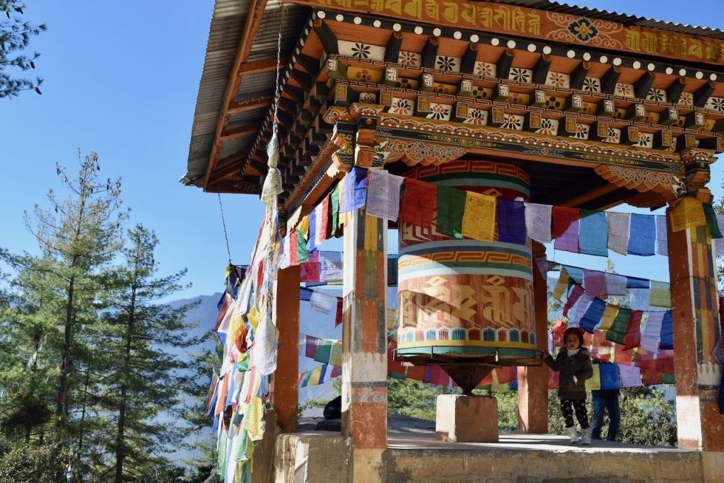 Prayer Wheels are common in Bhutan.