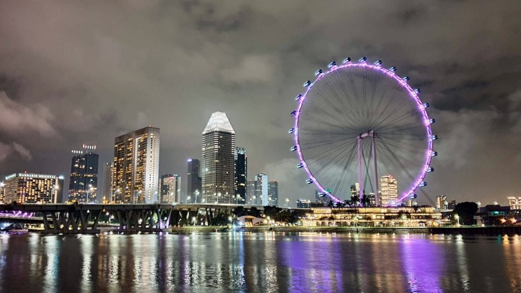 Singapore Flyer is a beautiful ferries wheel in the heart of Singapore. You can get a good view of the city from Singapore Flyer.