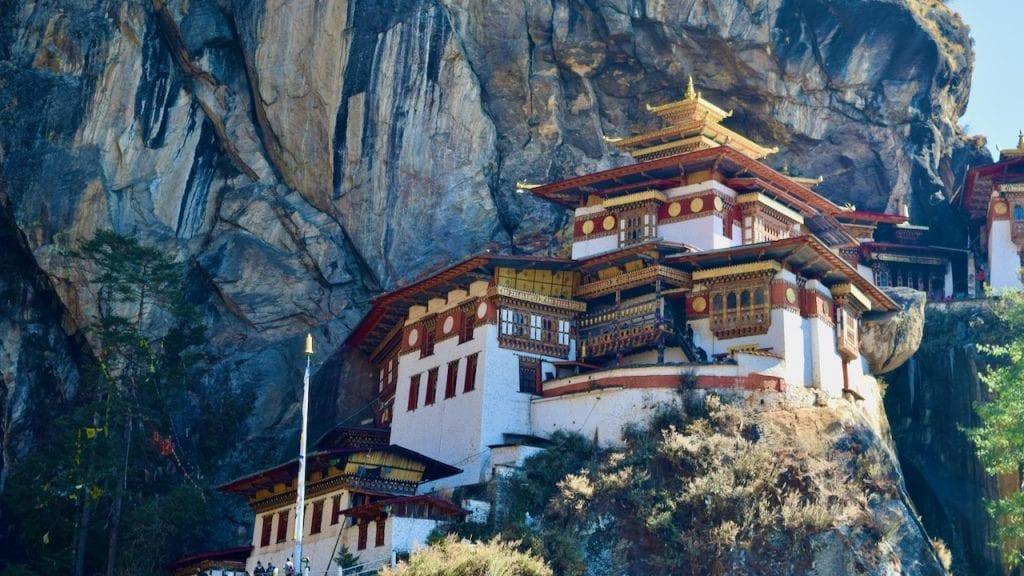 The tiger nest monastery.