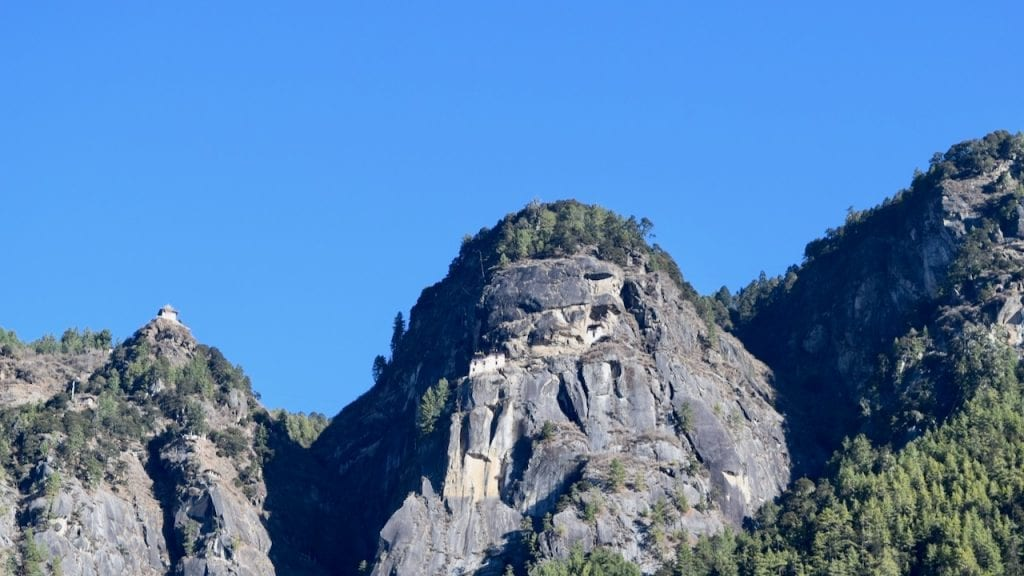 A glimpse of Taktsang monastery aka Tiger's nest.