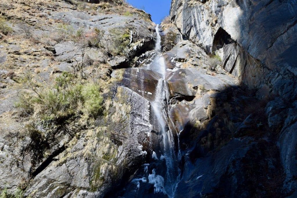 A waterfall near tiger's nest.