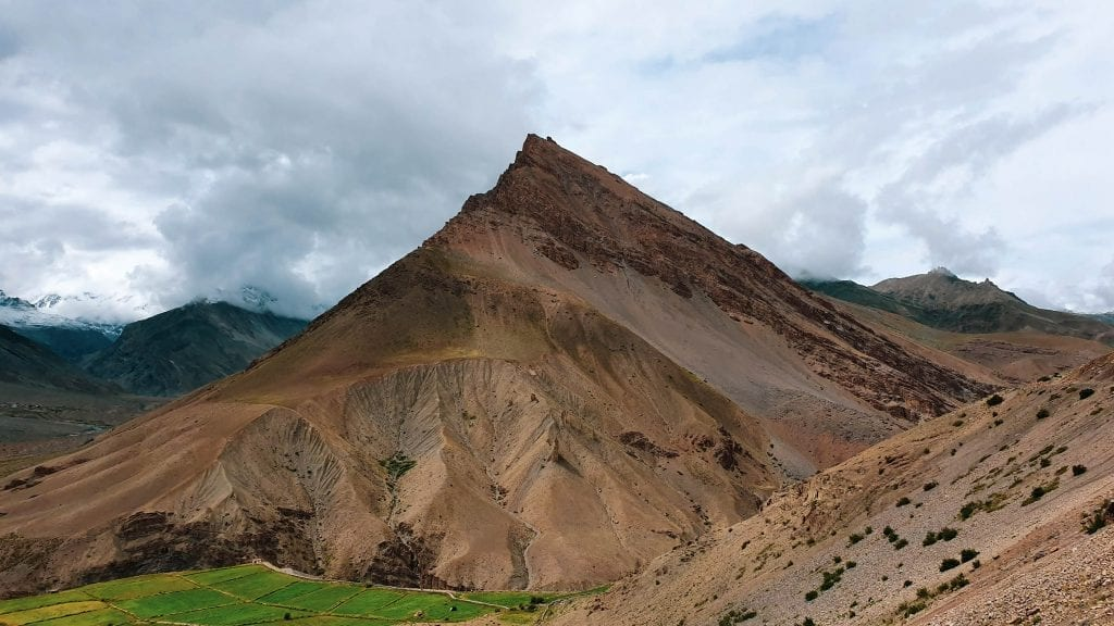 Brown color mountains in Spiti Valley.