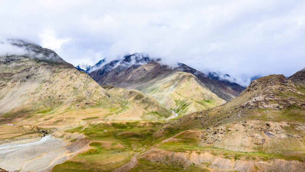 Spiti valley is a cold desert mountain, you won't find any tree here.