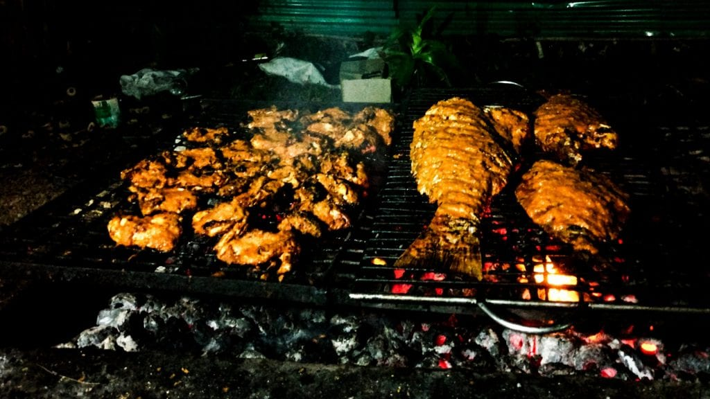 Barbecue party in Saint Martin's Island