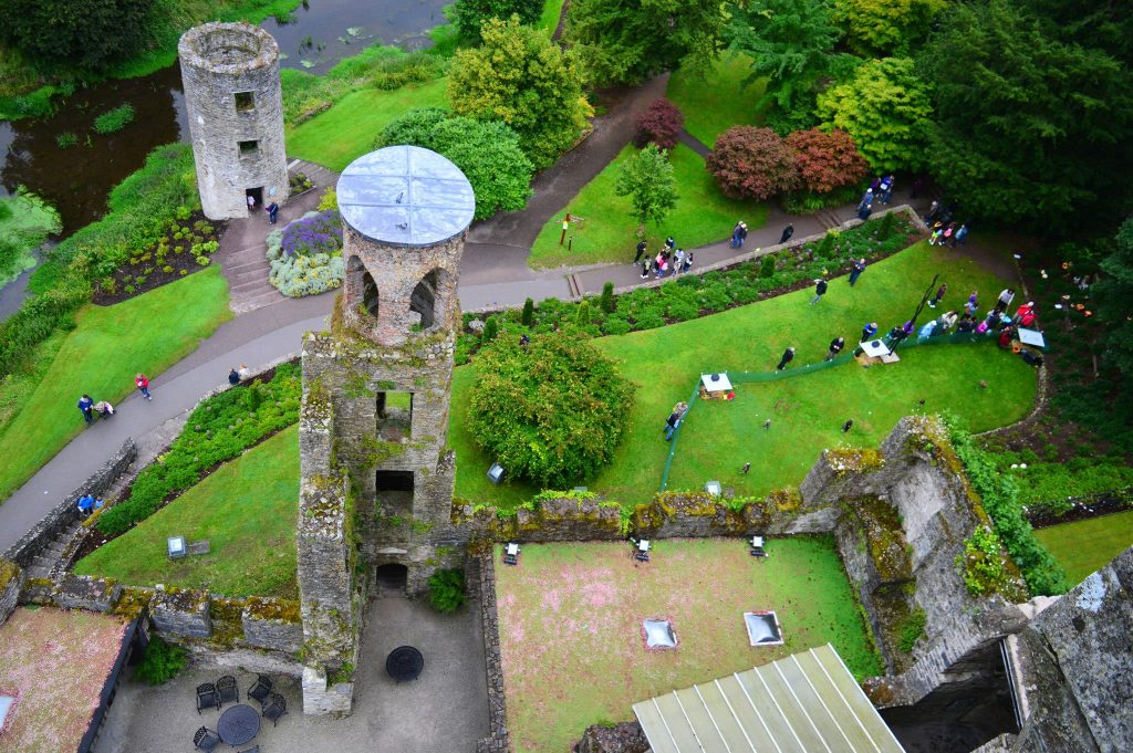 Blarney Castle as seen from top.