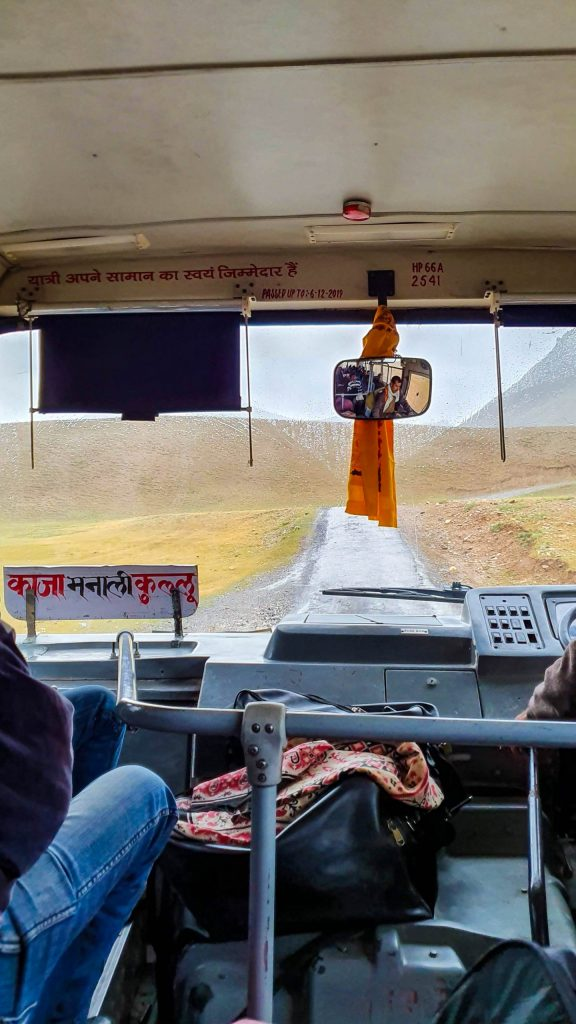 Public bus to Kaza in Spiti Valley from Manali.