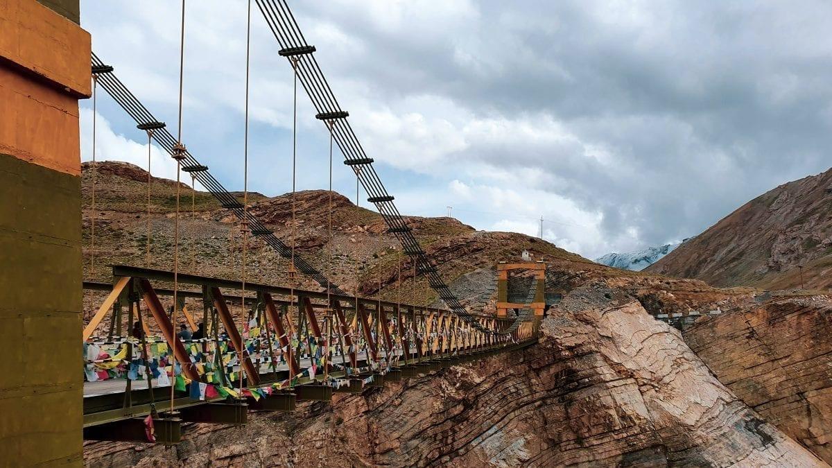 Highest bridge in the Asia is Chicham bridge in Spiti Valley